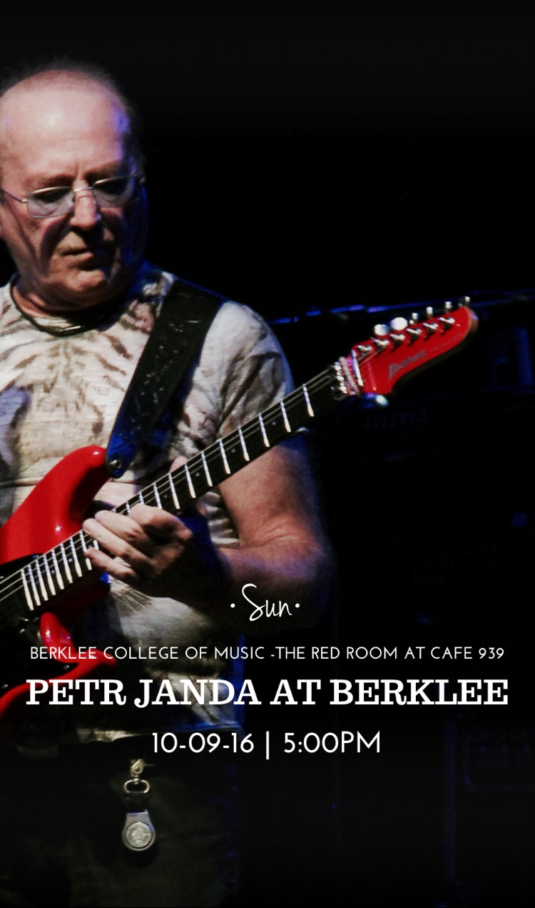 October 9, 2016: Petr Janda at Berklee and Other Special Guests