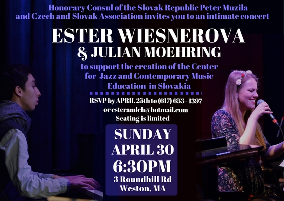April 30, 2017: Ester Wiesnerova in an intimate concert